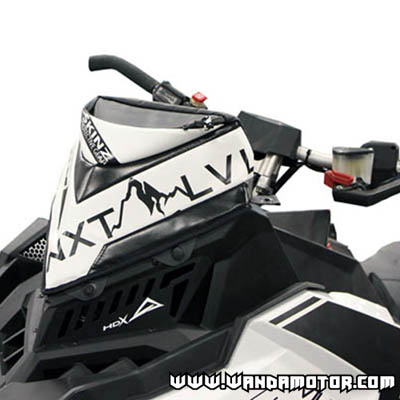 Skinz windshield bag Polaris Axys black/white