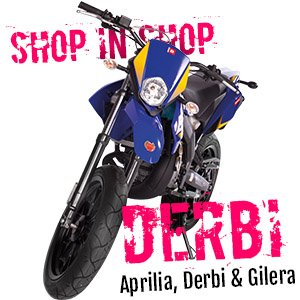 Shop in shop Derbi