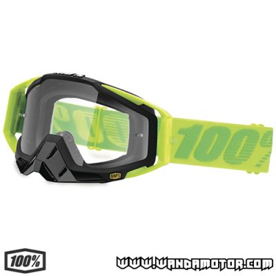 Goggles 100% Racecraft Sour Patch clear