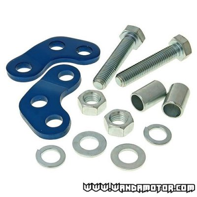 Shock absorber adapters Derbi blue