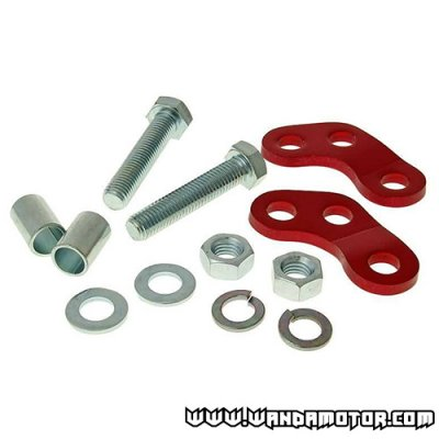 Shock absorber adapters Derbi red