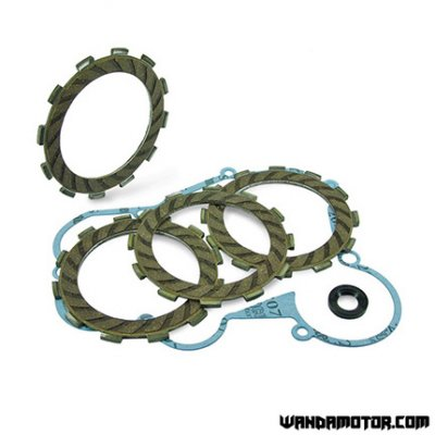 Clutch disc kit + gaskets Derbi <-'05