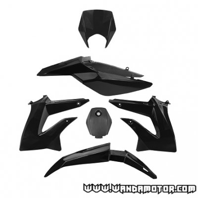 Plastic kit Derbi Senda DRD Xtreme '10-> black