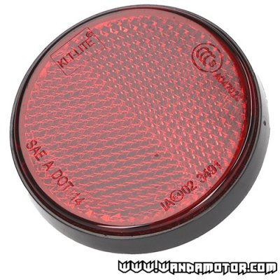 Reflector round 55mm red