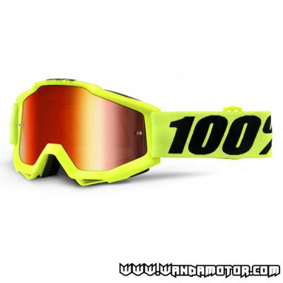 Goggles 100% Accuri fluo yellow