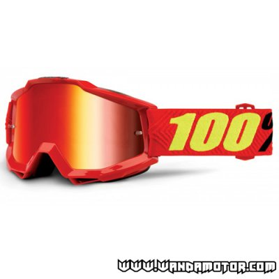 Goggles 100% Accuri Saarinen red