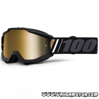 Goggles 100% Accuri Goggle Off mirror true gold