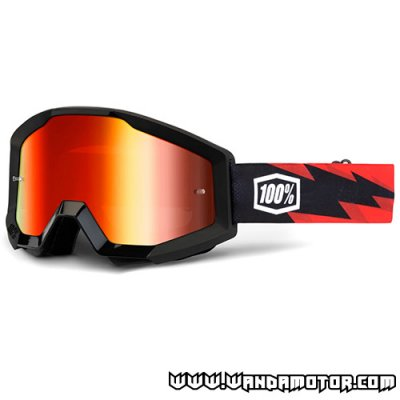 Goggles 100% Strata Slash mirror red