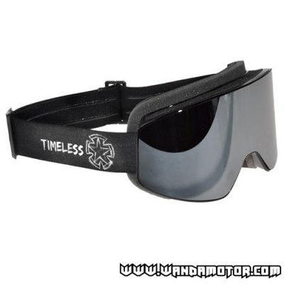 Timeless Shield goggles black w/ mirrored lens