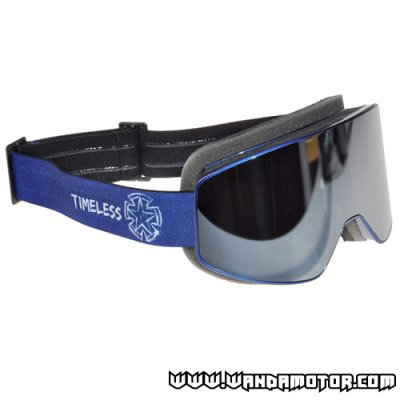 Timeless Shield goggles blue w/ mirrored lens