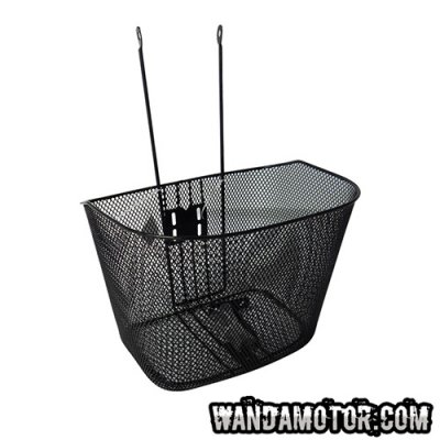 Luggage basket to front, solid, black