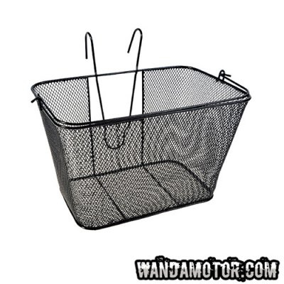 Luggage basket to front, thick net, black