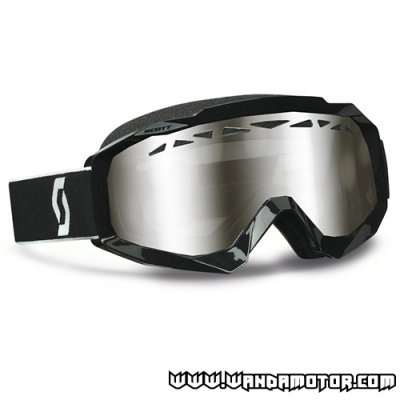 Scott Hustle SX goggles black/silver chrome