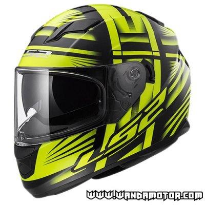 LS2 FF320 Stream helmet Bang black/fluo yellow L