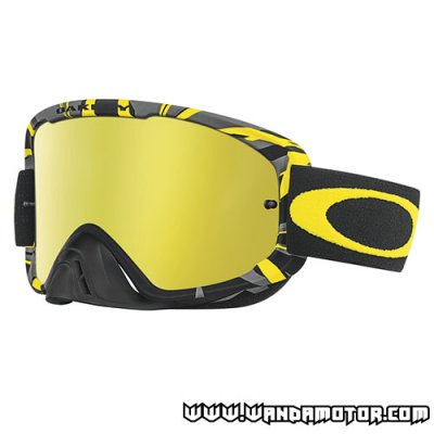 Oakley O2 goggles Gunmetal Yellow 24K Iridium