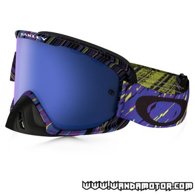 Oakley O2 goggles Blue Purple Black Ice Iridium