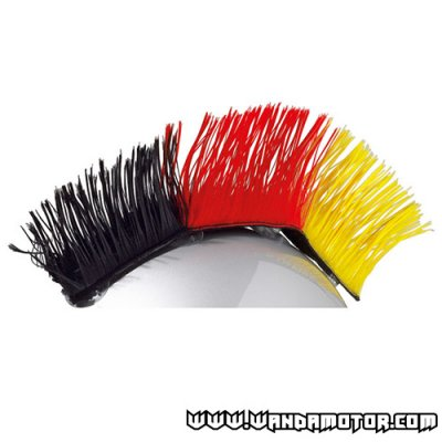 Mohawk for helmets black-red-yellow