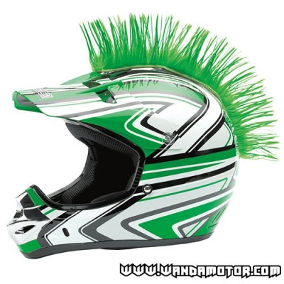 Mohawk for helmets green