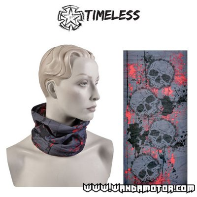 Tube scarf Skull black/grey