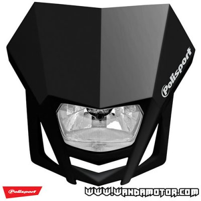 Headlight mask Polisport LMX black