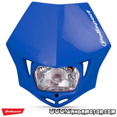 Headlight mask Polisport MMX blue