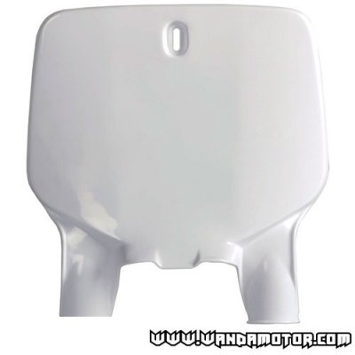 Front number plate Polisport Kawasaki white