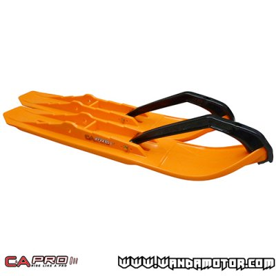 C&A Pro XCS ski pair orange