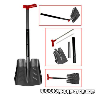 Snow shovel assy with saw black