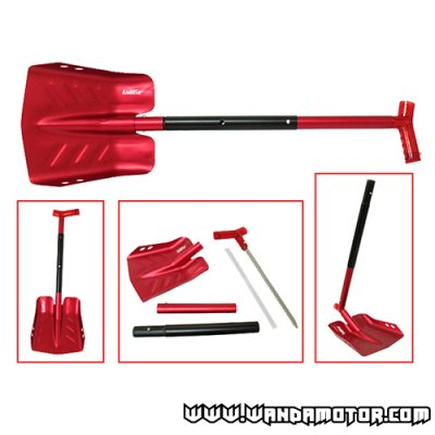 Snow shovel assy with saw red