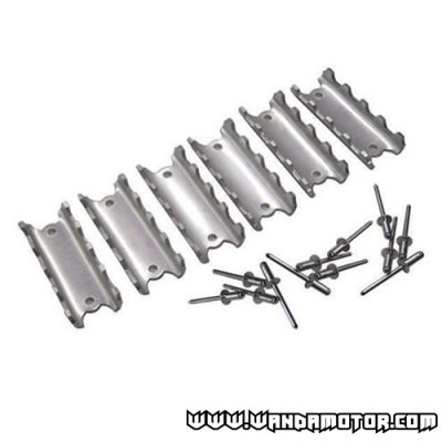 Snowmobile foot peg kit 6-part