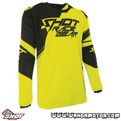 Shot Contact Claw jersey neon yellow L