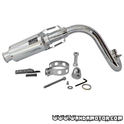 Exhaust pipe NHRC Racing Monkey silver