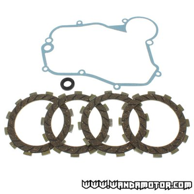 Clutch disc kit + gaskets Derbi Senda '06->