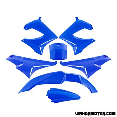 Plastic set Derbi Senda blue