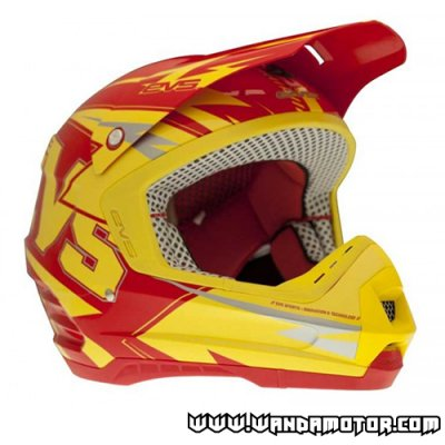 EVS Vortek T5 Bolt helmet red-yellow L