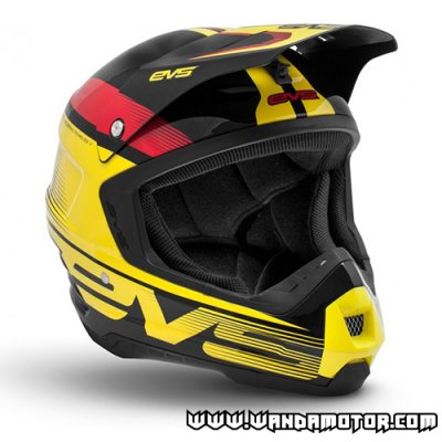EVS Vortek T5 Vapor helmet black-red-yellow L