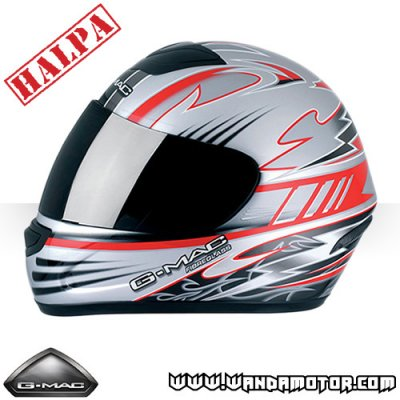 G-Mac Ballistic MOPED/MC-helmet red L