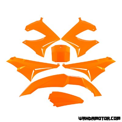 Plastic set Derbi Senda orange