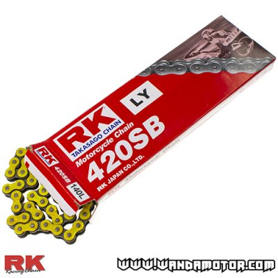 Chain RK 420SB-140 yellow