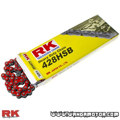Chain RK 428HSB-140 red
