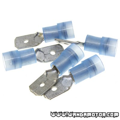 "Plate plug set ""o"" 0,8 x 6.35 blue 5pcs"