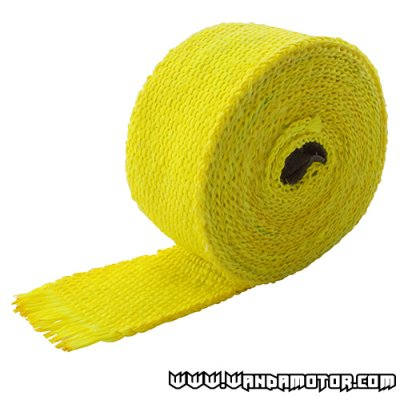 Exhaust powerwrap yellow (2mm x 50mm x 520cm)