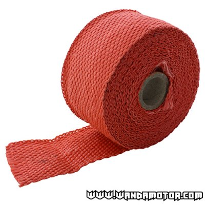 Exhaust powerwrap red (2mm x 50mm x 520cm)