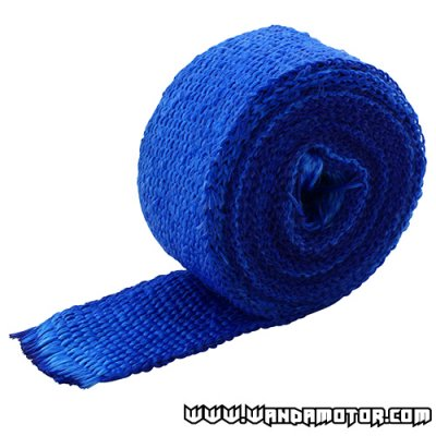 Exhaust powerwrap blue (2mm x 50mm x 520cm)