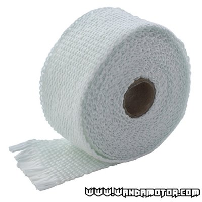 Exhaust powerwrap white (2mm x 50mm x 520cm)