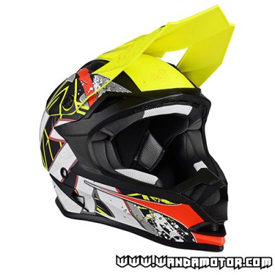 Lazer LZR OR-1 JR. Aerial helmet yellow/red/gray XXS