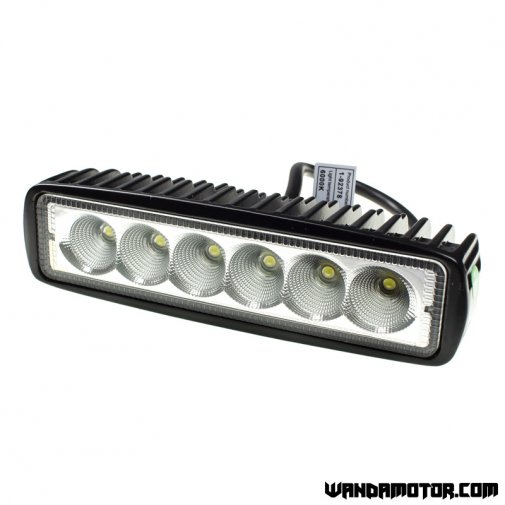 Headlight additional LED 45 x 160 mm black