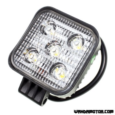 Headlight additional LED 85 x 85 mm black