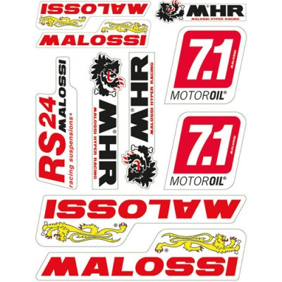 Malossi sticker sheet 24,7x35