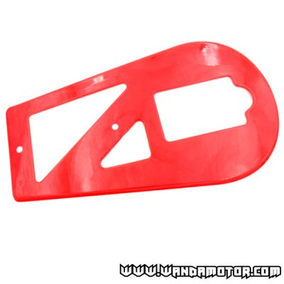 Chain guard pocket bike red